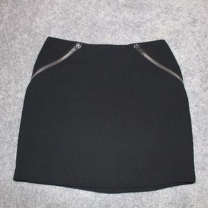 NWOT BCBG Carbon Black Zippered Mini Skirt